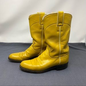 Women's Justin Boots Yellow Western Cowgirl Sz 5 B